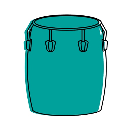 Conga drum musical instrument icon image vector illustration design  blue color