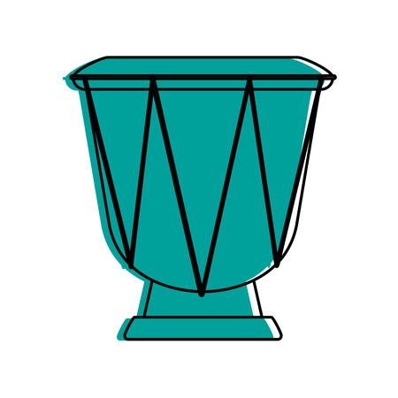 djembe: Djembe drum musical instrument icon image vector illustration design  blue color Illustration