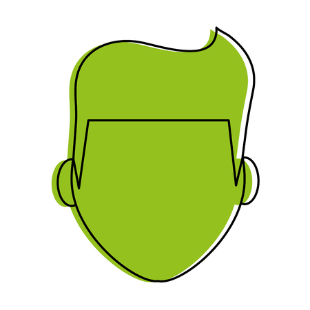 hair style: man avatar icon image vector illustration design  green color
