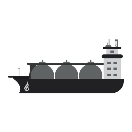 container ship natural gas industry icon image vector illustration design