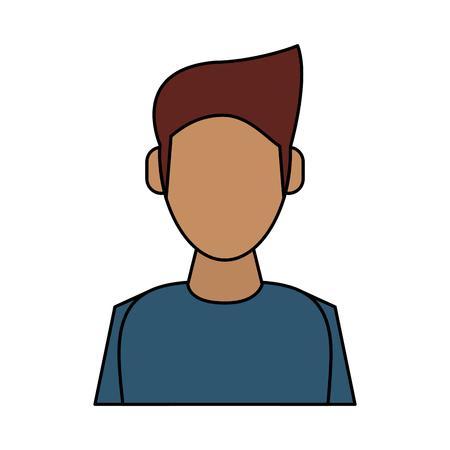 Man with tan skin  avatar icon image vector illustration design