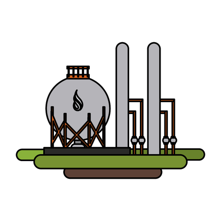 A plant natural gas industry icon image vector illustration design. Illustration