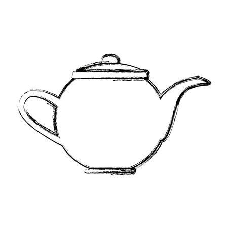 kettle coffee tea hot beverage fresh vector illustration Ilustração