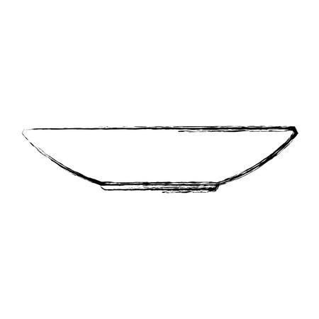 plate dishware prepare food kitchen utensil vector illustration