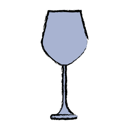 glass reflection: Empty wine glass beverage drink utensil vector illustration
