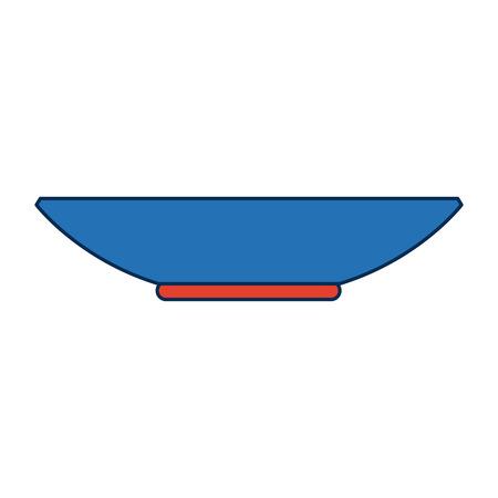 Plate dishware prepare food kitchen utensil vector illustration Illustration