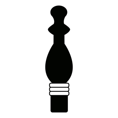 A pepper mill condiment cooking on white background vector illustration.