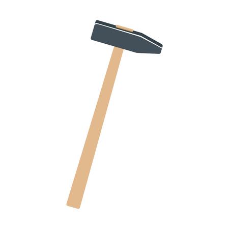 hammer construction build object icon vector illustration