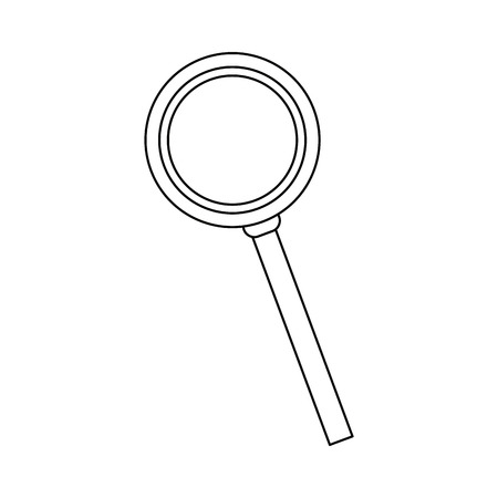 magnifying glass loupe and handle search tool vector illustration