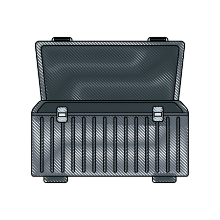 case: box for carrying tools handle equipment empty open