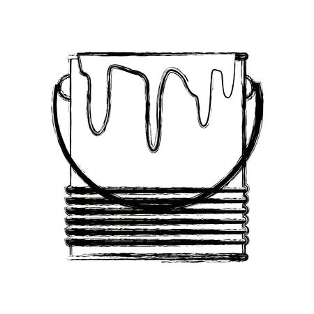 paint can: paint bucket color repair symbol vector illustration
