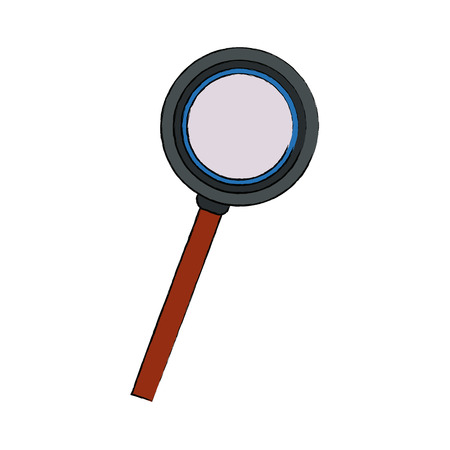 A magnifying glass loupe and handle search tool vector illustration.