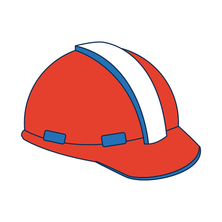 A construction helmet element safety in construction work vector illustration.