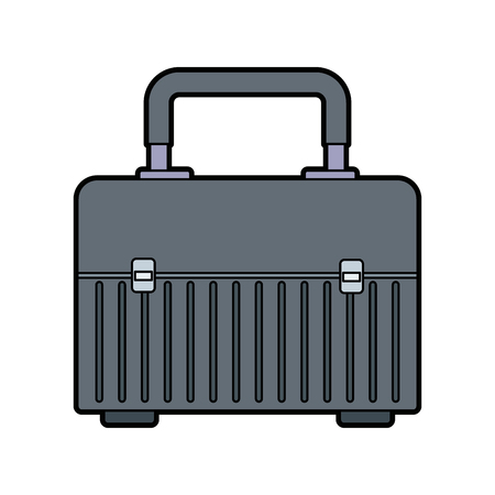 case: box for carrying tools handle equipment closed vector illustration