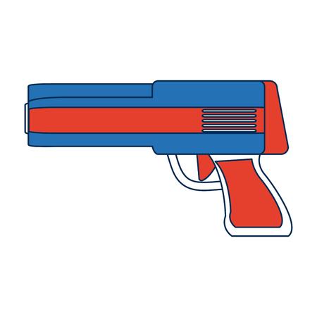 gun control: Powerful gun caliber forces automatic icon vector illustration Illustration