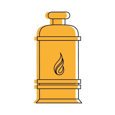 natural gas production: tank natural gas industry icon image vector illustration design  yellow color
