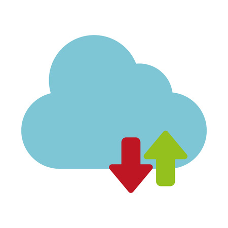 cloud storage icon image vector illustration design