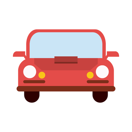 red car frontview icon image vector illustration design Illustration