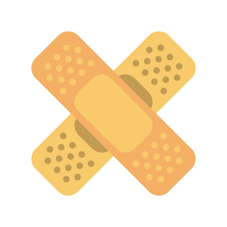 adhesive bandages healthcare icon image vector illustration design