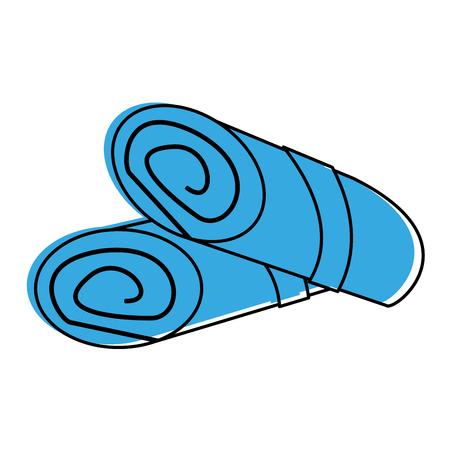 rolled towels spa object icon image vector illustration design  blue color Ilustração