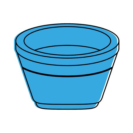 wooden bathtub spa object icon image vector illustration design  blue color