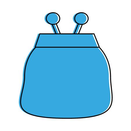 coin purse icon image vector illustration design  blue color Illustration