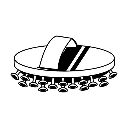 exfoliation wood brush spa object icon image vector illustration design  black and white