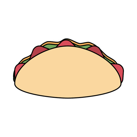 taco fast food icon image vector illustration design