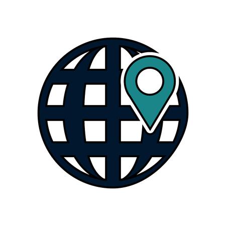 earth globe diagram icon image vector illustration design