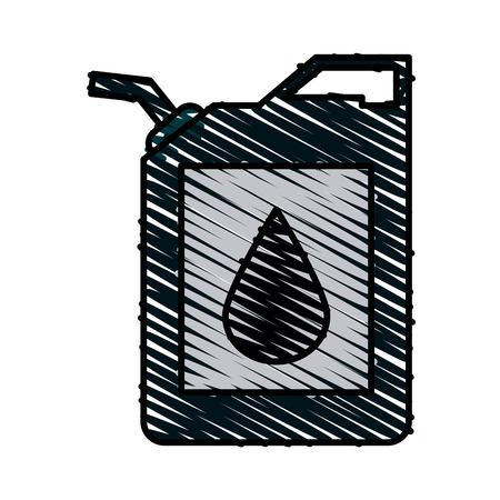 canister oil industry icon image vector illustration design