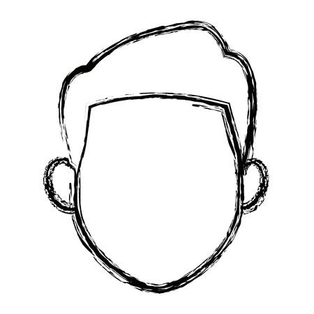 hair style: man character face avatar male cartoon vector illustration