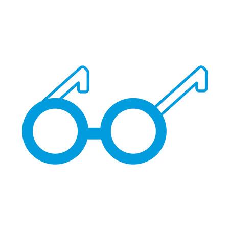 round eyeglasses old fashion trendy style vector illustration Illustration