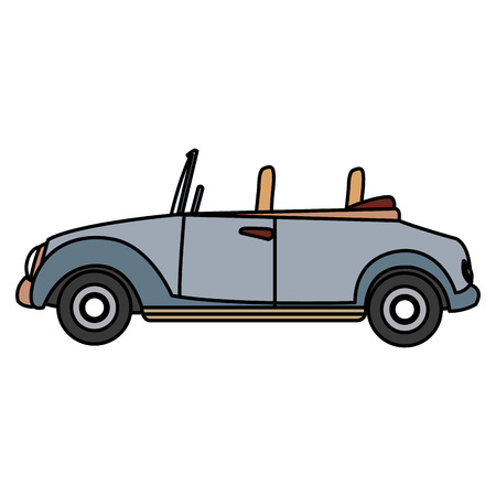 wedding car convertible old fashion style vector illustration