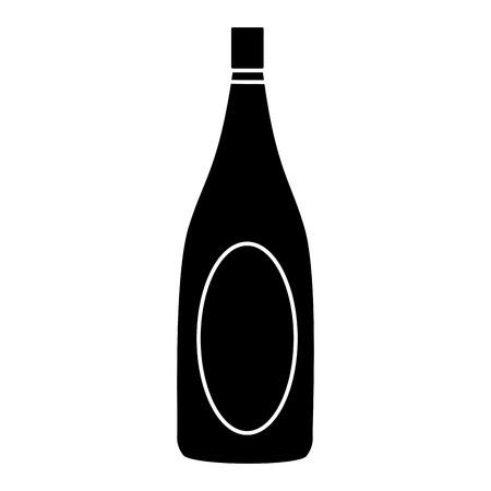 champagne celebration: champagne bottle drink alcohol wedding celebration vector illustration