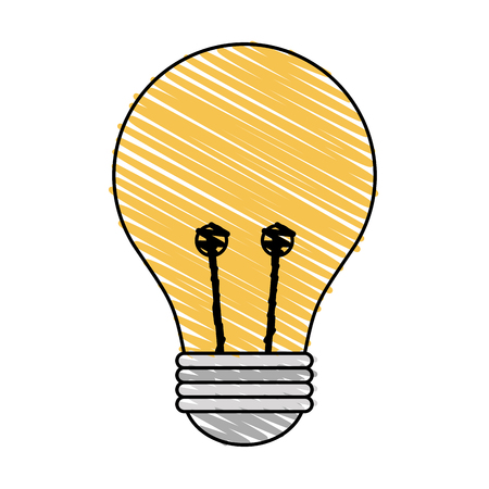 Colorful light bulb doodle over white background vector illustration