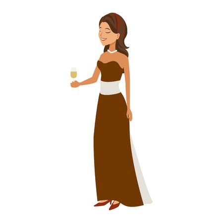 wedding bride making wedding toast image vector illustration Illustration