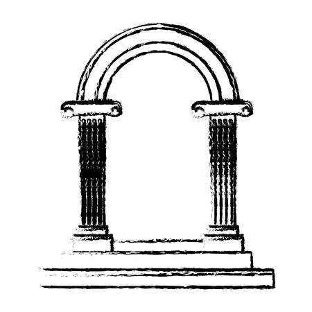 結婚式ベクトル イラストの美しいロマンチックな弧ドア要素  イラスト・ベクター素材