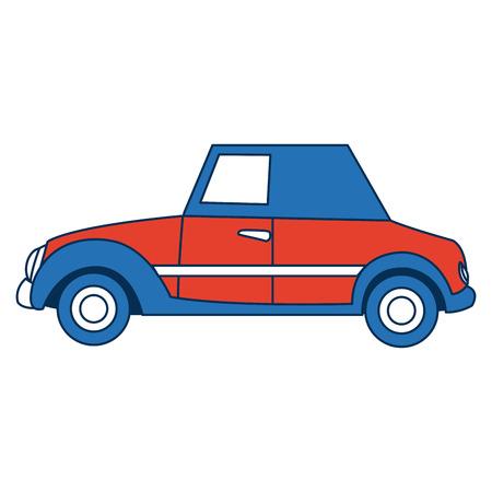 wedding car transport old fashion style vector illustration