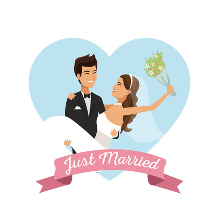 Weißer Hintergrund mit Farbe Herzform Rahmen Plakat des Paares nur Standard-Bild - 84524840