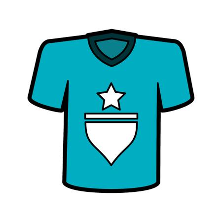 Camiseta con diseño de ilustración de vector de imagen de icono de estrella Foto de archivo - 84589261