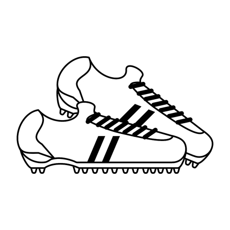 cleats shoes soccer or football related icon image vector illustration design