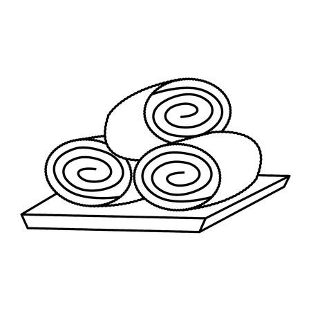 タオルスパセンター関連アイコン画像ベクトルイラストデザイン  イラスト・ベクター素材