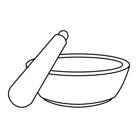 mortar and pestle icon image vector illustration design