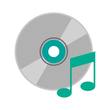 cd with quaver or eight note music icon image vector illustration design Illustration