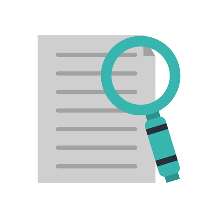 css: magnifying glass with file or text document icon image vector illustration design