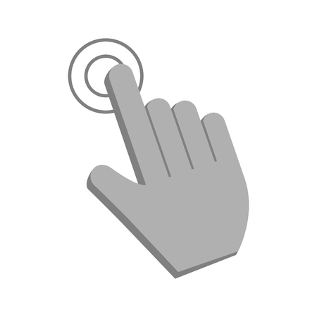 hand cursor clicking icon image vector illustration design