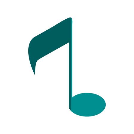 quaver: music note semi quaver icon image vector illustration design