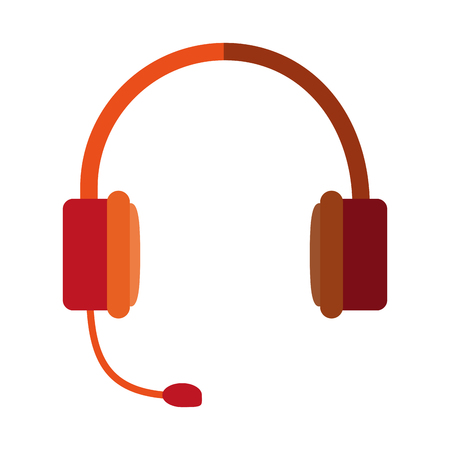isolated headset icon image vector illustration design