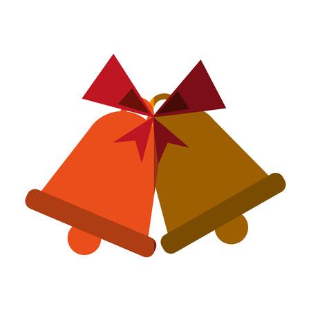 bells with ribbon bow icon image vector illustration design Illustration