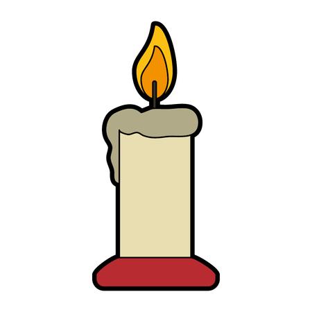 ornamental candle icon image vector illustration design